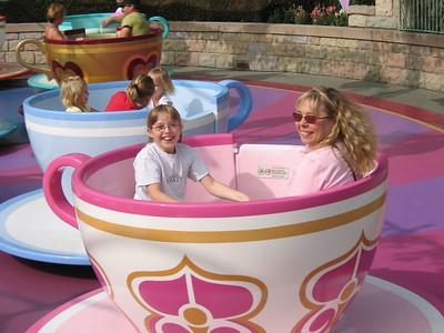 Natalie and Paris on the Teacups