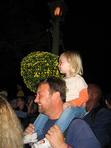 John and Elisabeth watch the parade.