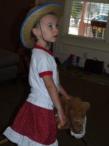Cambria riding a horse