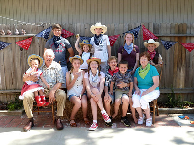 Linda and Leroy and their 10 grandchildren