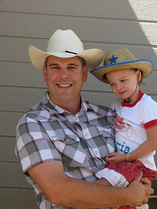 Mark and his little cowgirl!