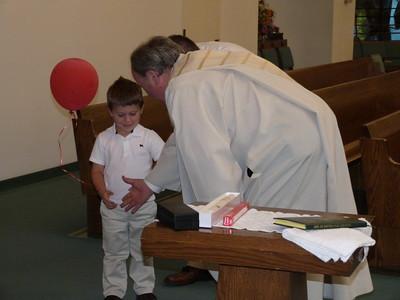 The deacon talking to Joey
