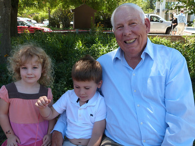 Meredith and Joey and Grandpa Leroy