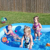 "The girls and Charley having a ""splashing"" good time."