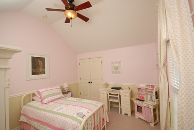 Camille's room.  The ceiling fan is now white.