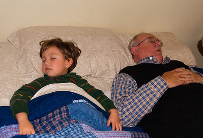 Ollie and Grampa Bob