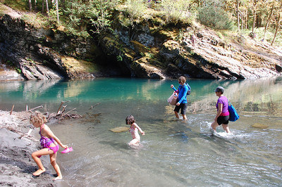crossing at the blue hole