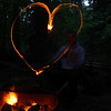 Campflre Fire Show - heart #2