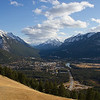 Banff as seen from Mt. Norquay road (across the highway)