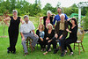 Left to right front row - Sally Cleary, Bob Perry, Barbra Rose, Grayce Perry, Donald Perry, Shirley Perry. Back Joan Perry and Roper Perry. <br /> Occasion of Donald Perry's 84th birthday, Beamsville, Ontario