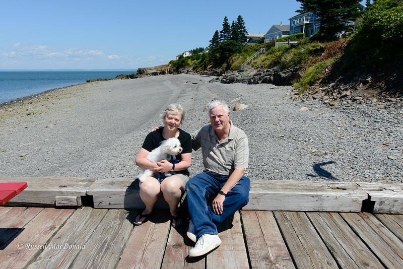 2012 Carol, Russ, and Bradley in Nova Scotia