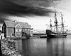 8x10, Pictou harbour with the replica of the ship Hector which is very similar to the Sarah which brought our MacDonalds from Scotland to Pictou in 1803.