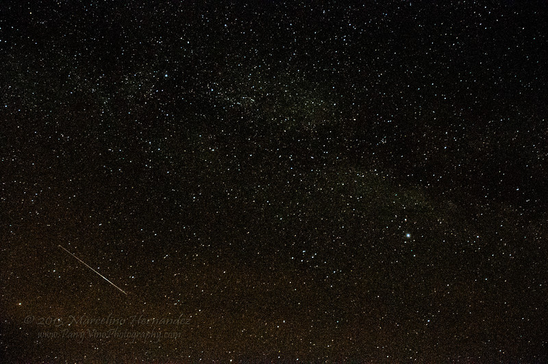 Milky way PLUS a shooting star! What luck!