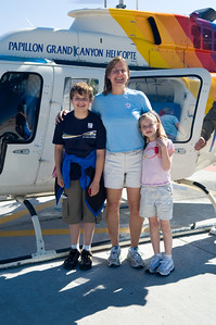 Here we are just about to load into the chopper.  It's a 30-40 minute ride to the bottom of Havasu Canyon.  You skirt the edge of the Grand Canyon along the way there.  We left about 9am and the chopper was going to pick us up for the return at 4pm.