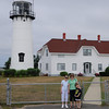 Bebe, Robyn and Zach at the Chatham Lighthouse.
