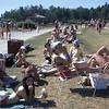 Aug 74 - Birds Hill Park beach - Omer & Marilyn Carbonneau & family visiting