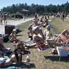 Aug 74 - Birds Hill Park beach - Omer & Marilyn Carbonneau & family visiting