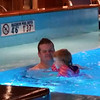 Andrew & Maddy taking a dip before bedtime.....
