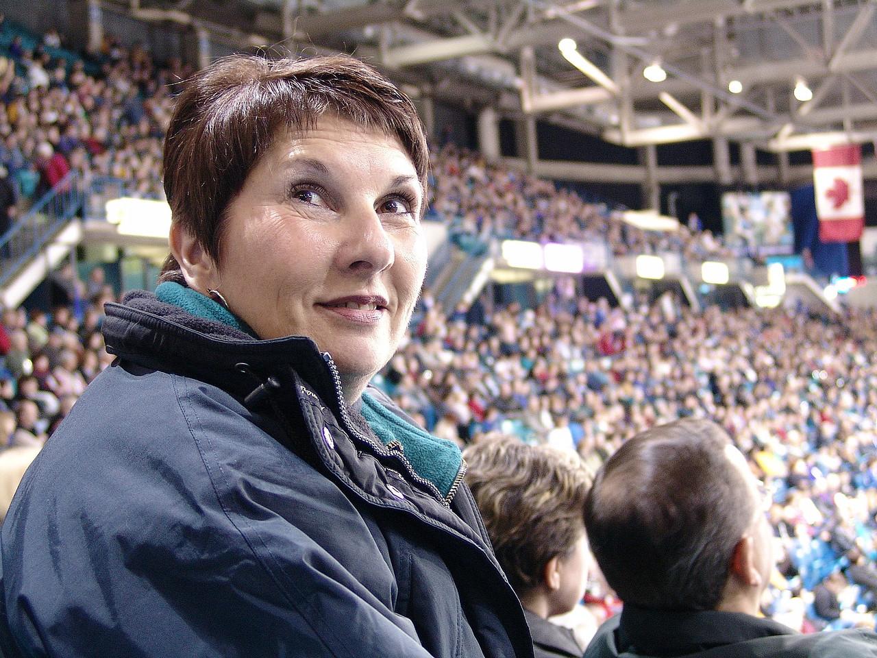 Carol at the Saskatoon Brier.