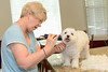 2013 Carol giving Bradley a haircut