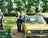 1971, Russ, Carol, and Tawna leaving North Dakota to drive back to St. Petersburg, FL