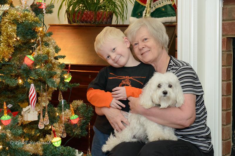 Christmas 2012 Will, Carol, and Bradley