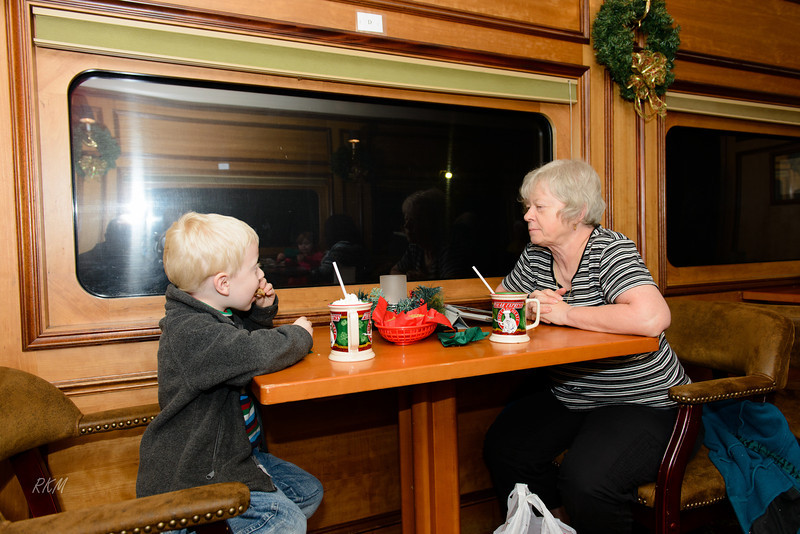 Dec 2012 Will and Carol on the Polar Express in NC