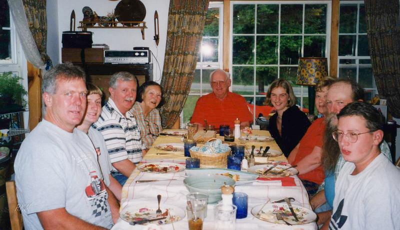 1999-08-10 Mom's 80th Birthday, at Bob's house in VT