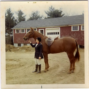 Banner, my all-time fave lesson horse at Friars Gate Farm in Pembroke MA. 1971, 14 years old (me), 16 years (him)