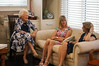 Joyce, Kathy and Gillian enjoy a conversation. Poor Kathy  could not contribute because she had lost her voice!