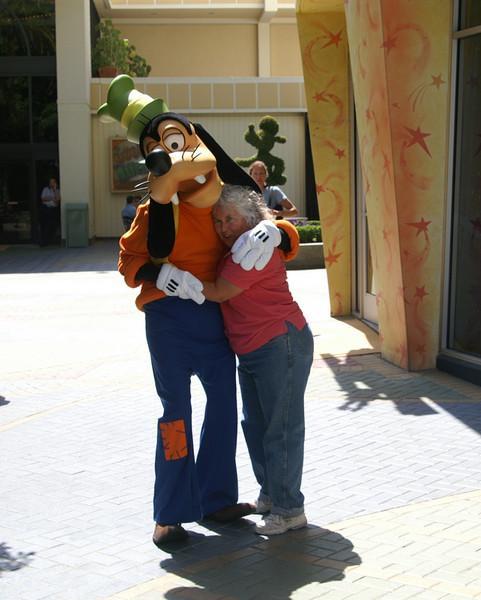 Goofy and me.  Disneyland June 7, 2008