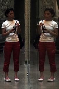 Carolyn with her twin Caroline