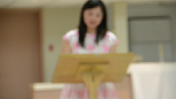 Carolyn's speech ... sorry for the out of focus
