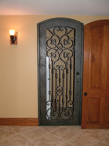 Door to 'wine grotto' - room isn't finished yet