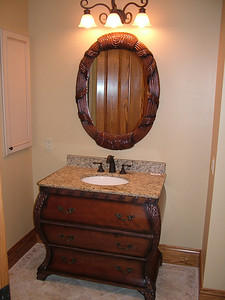 bathroom #1 in lower level