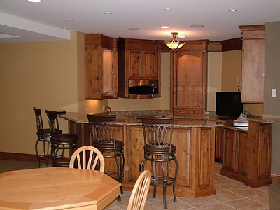 Fully furnished kitchen in the bar area