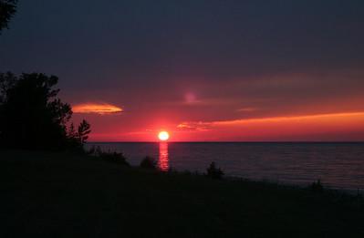 Sunset on a beautiful Michigan night; near our back yard