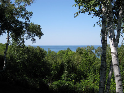 View of Lake Michigan from our deck