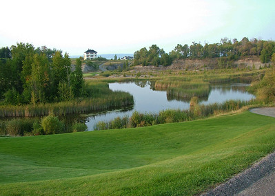 View of former cement Quarry- 9 holes appropriately named 'The Quarry'