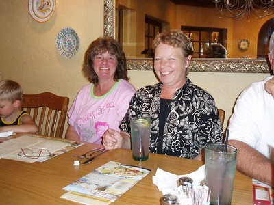 Steve's mom Alice (left) and her sister Sue
