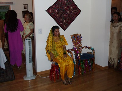 "Asma sitting on her ""throne"" waiting for Casey."