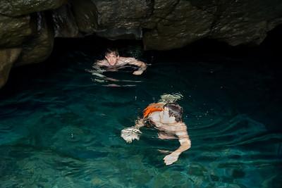 Ely & Joe - Cave Swimming - Wai'anapanapa Caves- Maui, Hawaii