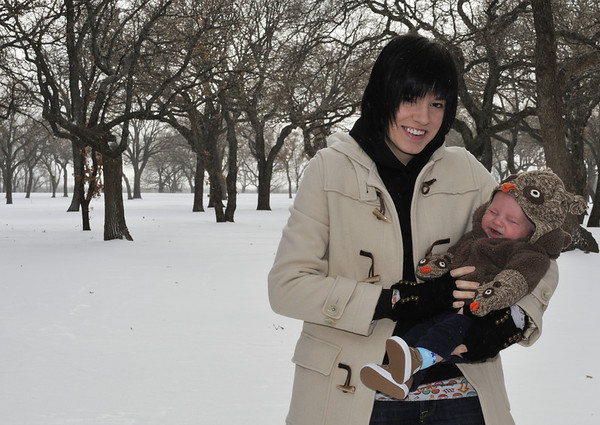 Cayden's first blizzard (02-01-2011)