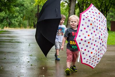 Cayden and his umbrella