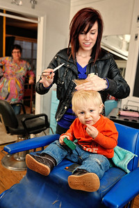 Cayden's First Haircut (03-08-2012)