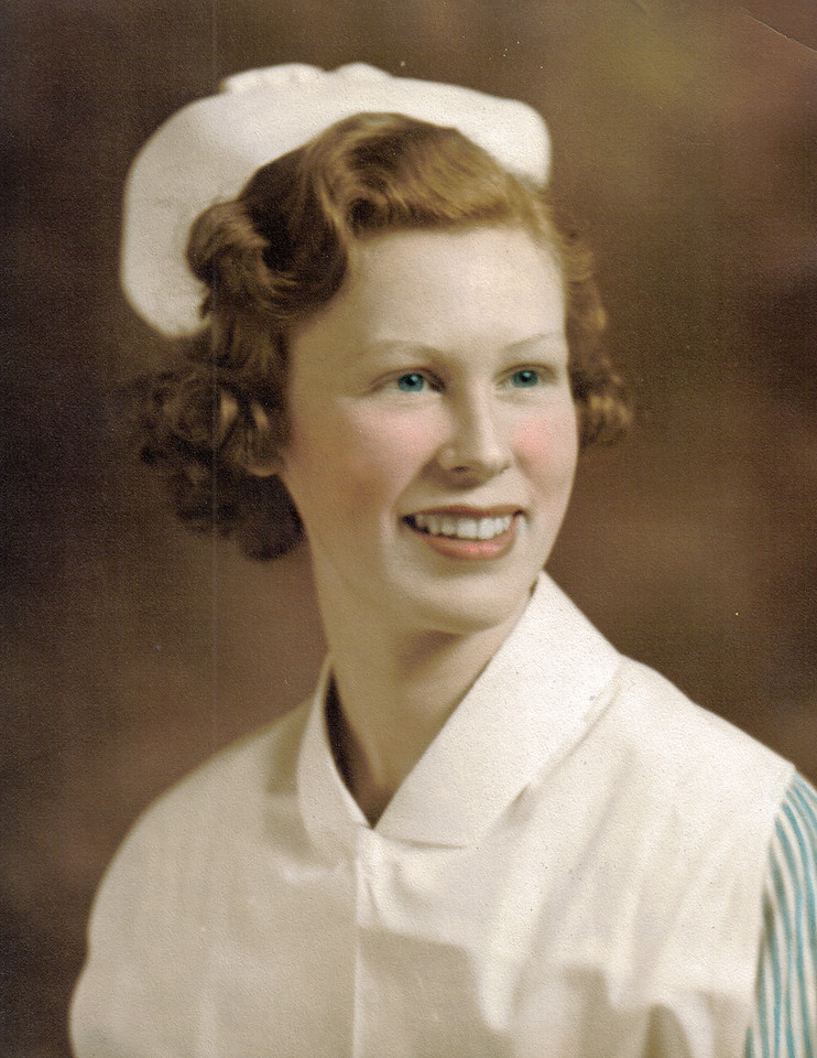 Mary Naugle, RN 1938 - dating my Dad, but not yet engaged.
