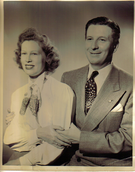 Mom and Dad, New York city, 1940s