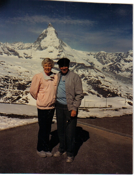 Mom and Dad at the Matterhorn in Switzerland.