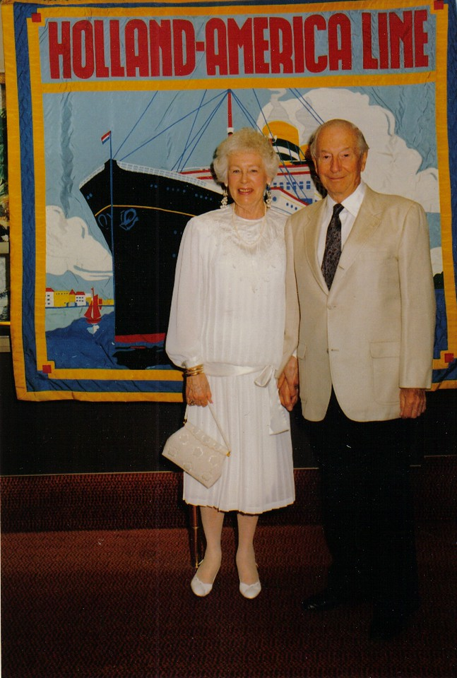 Mom and Dad on their cruise through the Panama canal, 1993.
