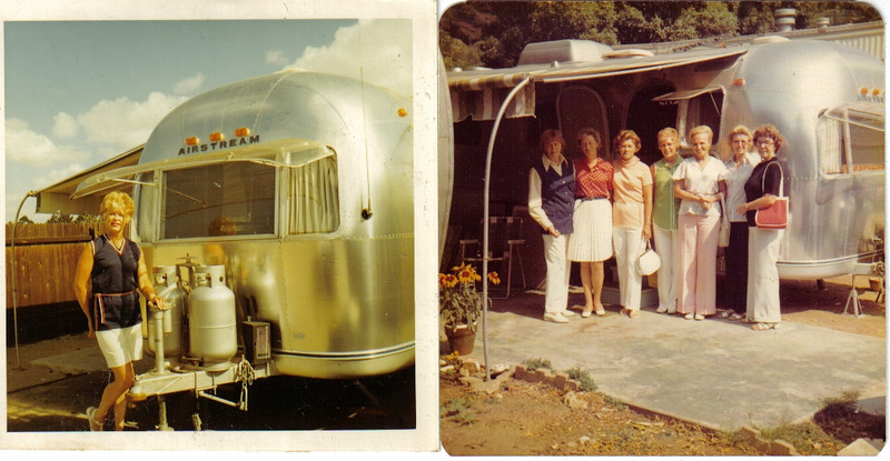 "Mom and Dad's ""getaway"" mobile, the Airstream, winters in Palm Springs, Summers at Paradise Cove in Malibu."